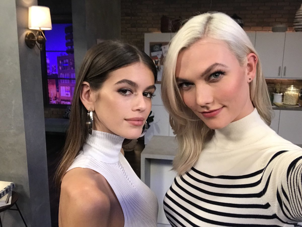 Kaia Gerber and Karlie Kloss