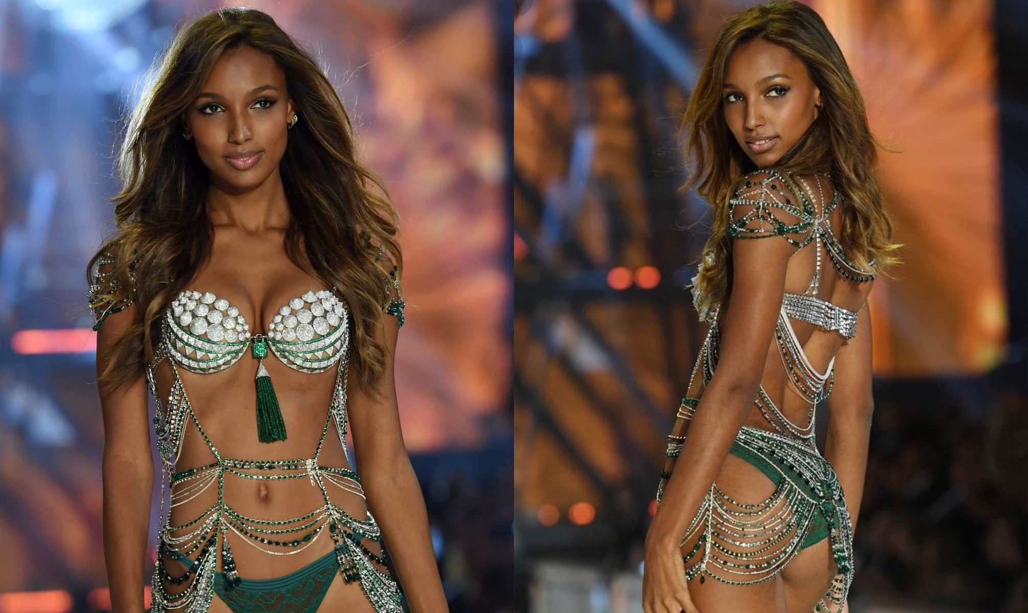 Jasmine Tookes Fantasy Bra for Victoria's Secret