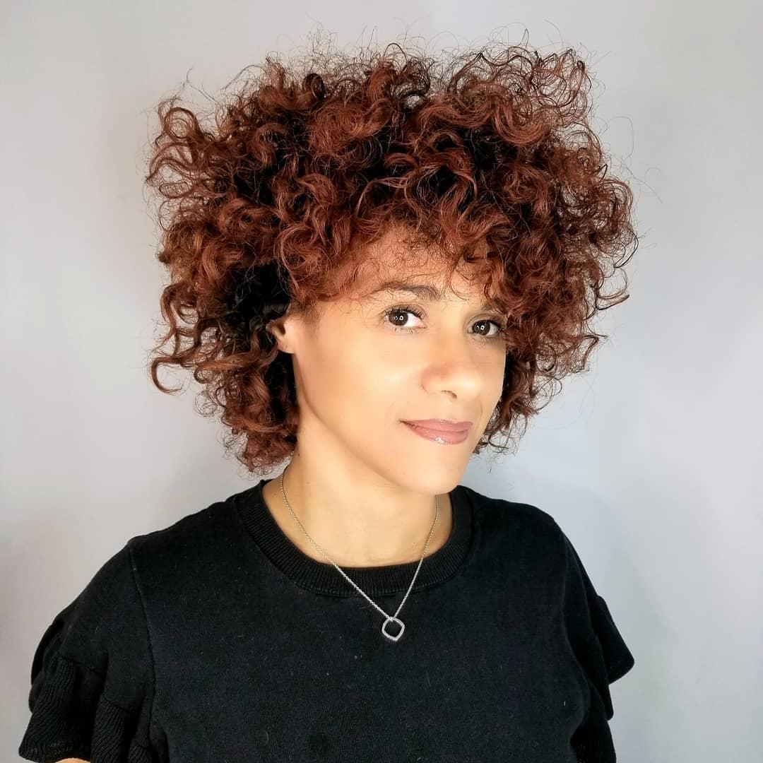 Auburn Curly Hair