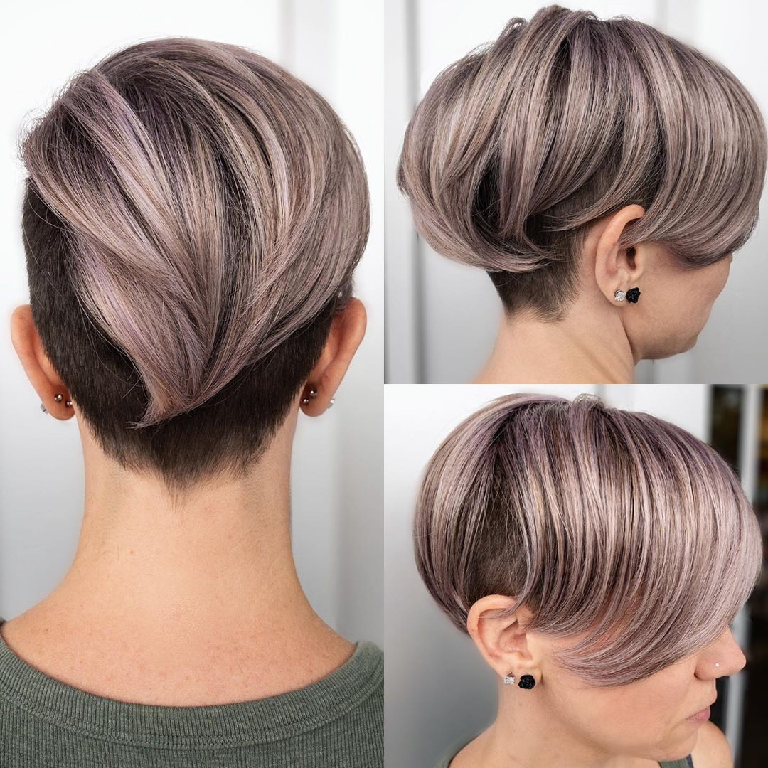 Icy Purple Undercut
