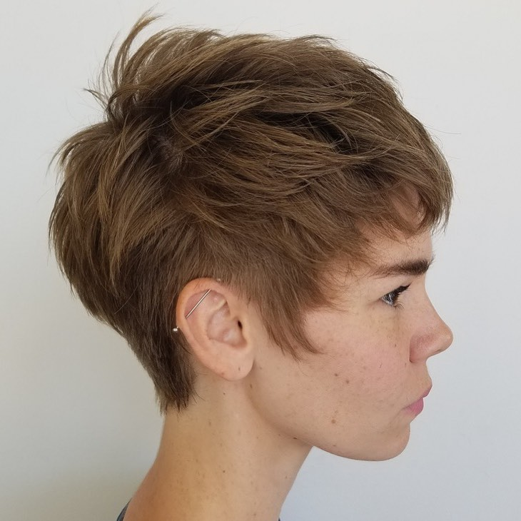 Short Spiky Brunette Pixie