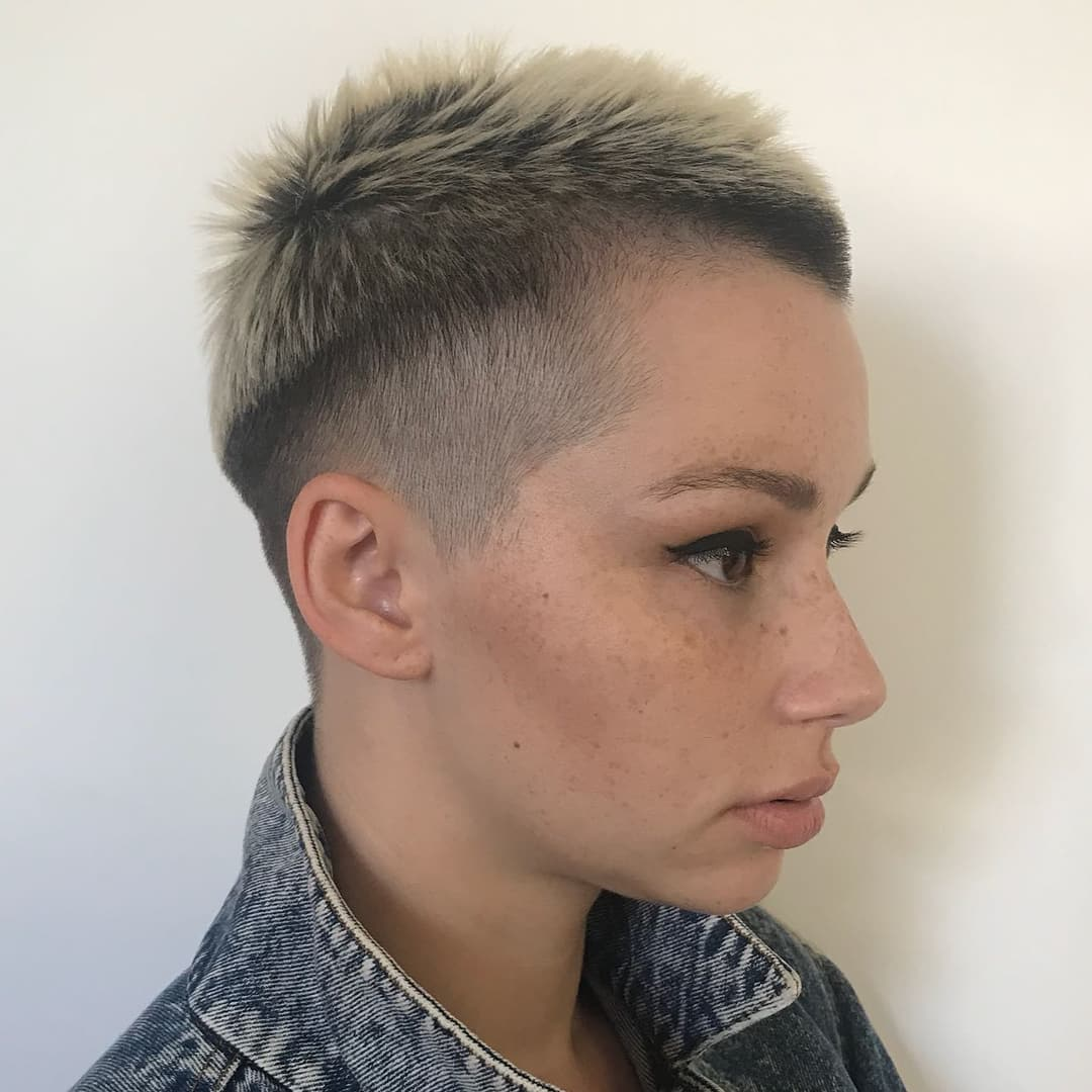 Spiky Buzz For Short Hair