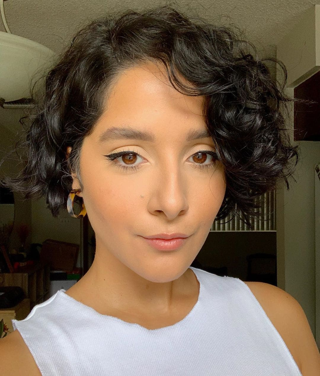 Super Cropped Curly Bob