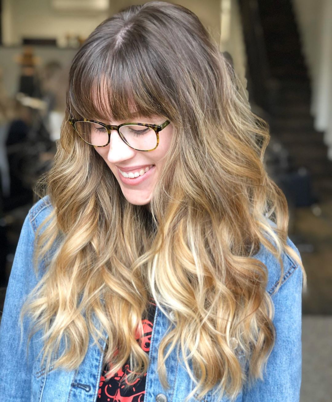 Beachy Highlights With Wispy Bangs