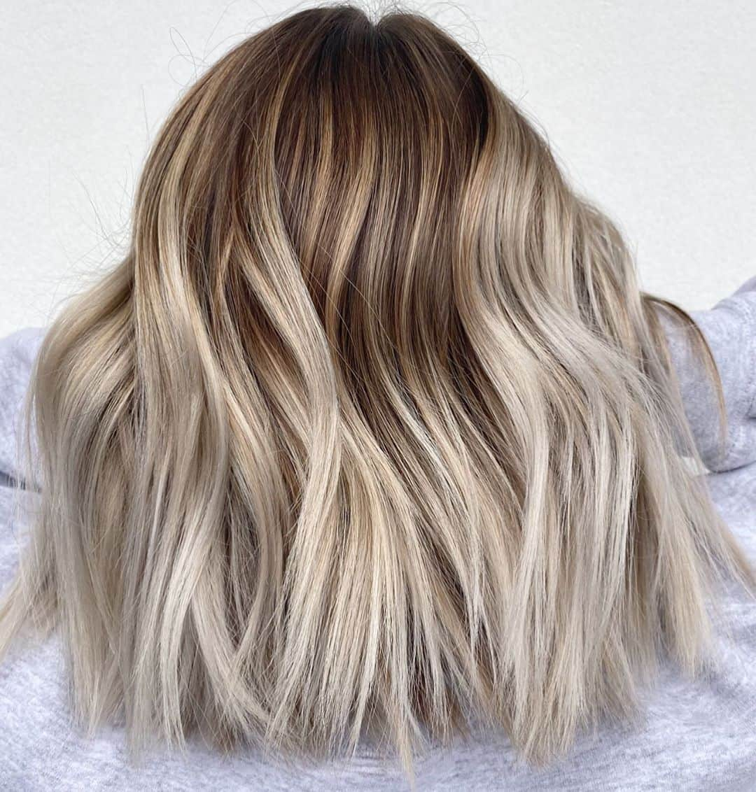Blonde Balayage On Natural Tone