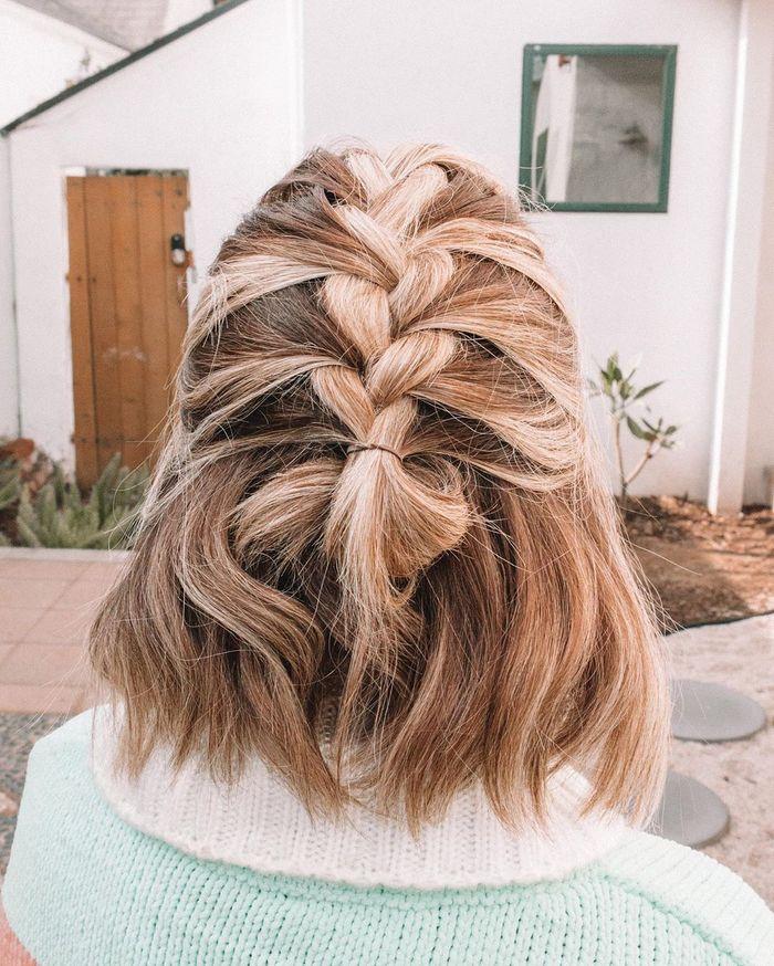 Braided Half-Up Style