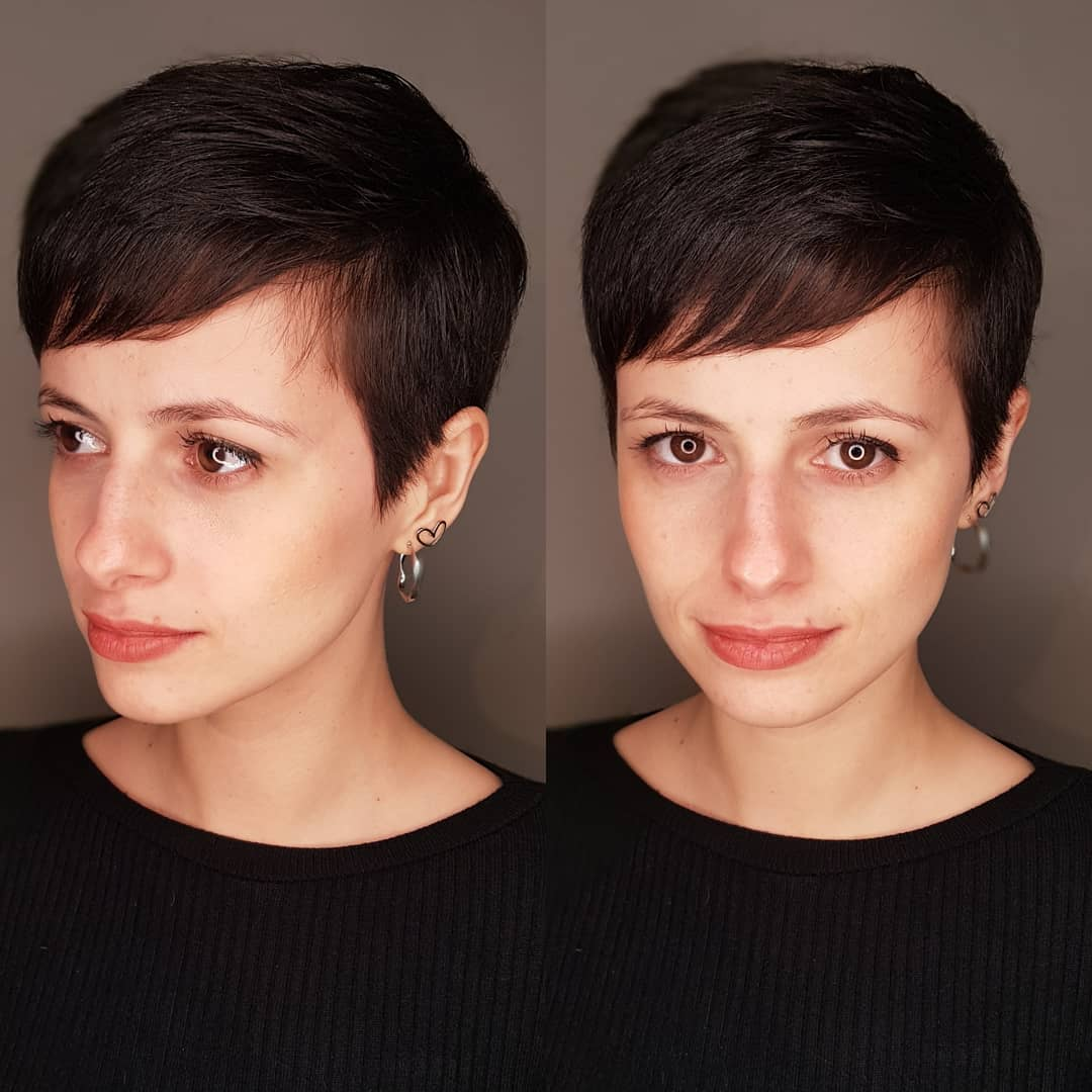 Classic Pixie With Side Swept Bangs
