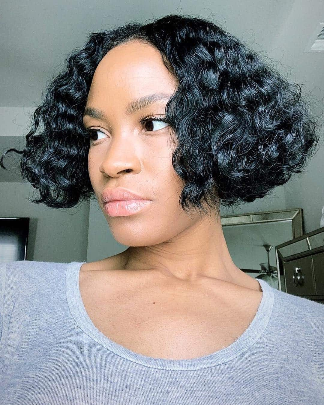 Cropped And Curly Bob