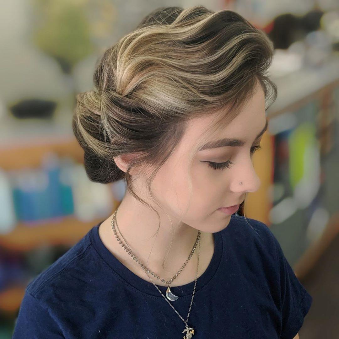 Curly Up-do For Medium Hair