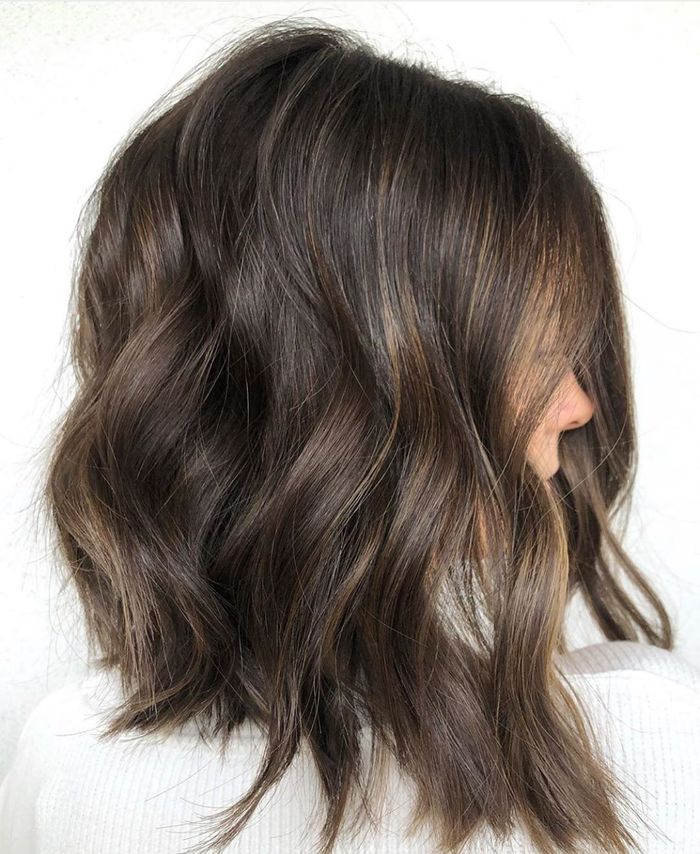 Dark Brown Textured Lob