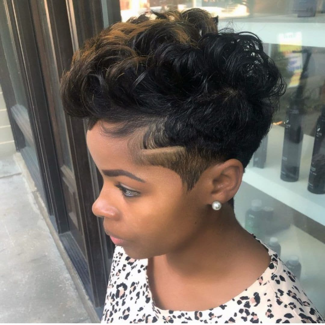 Faux Hawk With Caramel Tips