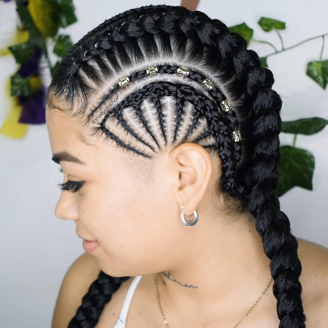 Goddess Braids With Over Ear Detail