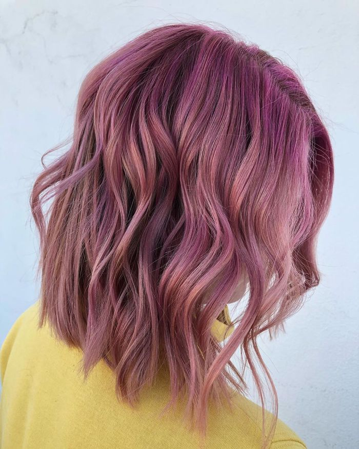 Jewel-Toned Long Bob