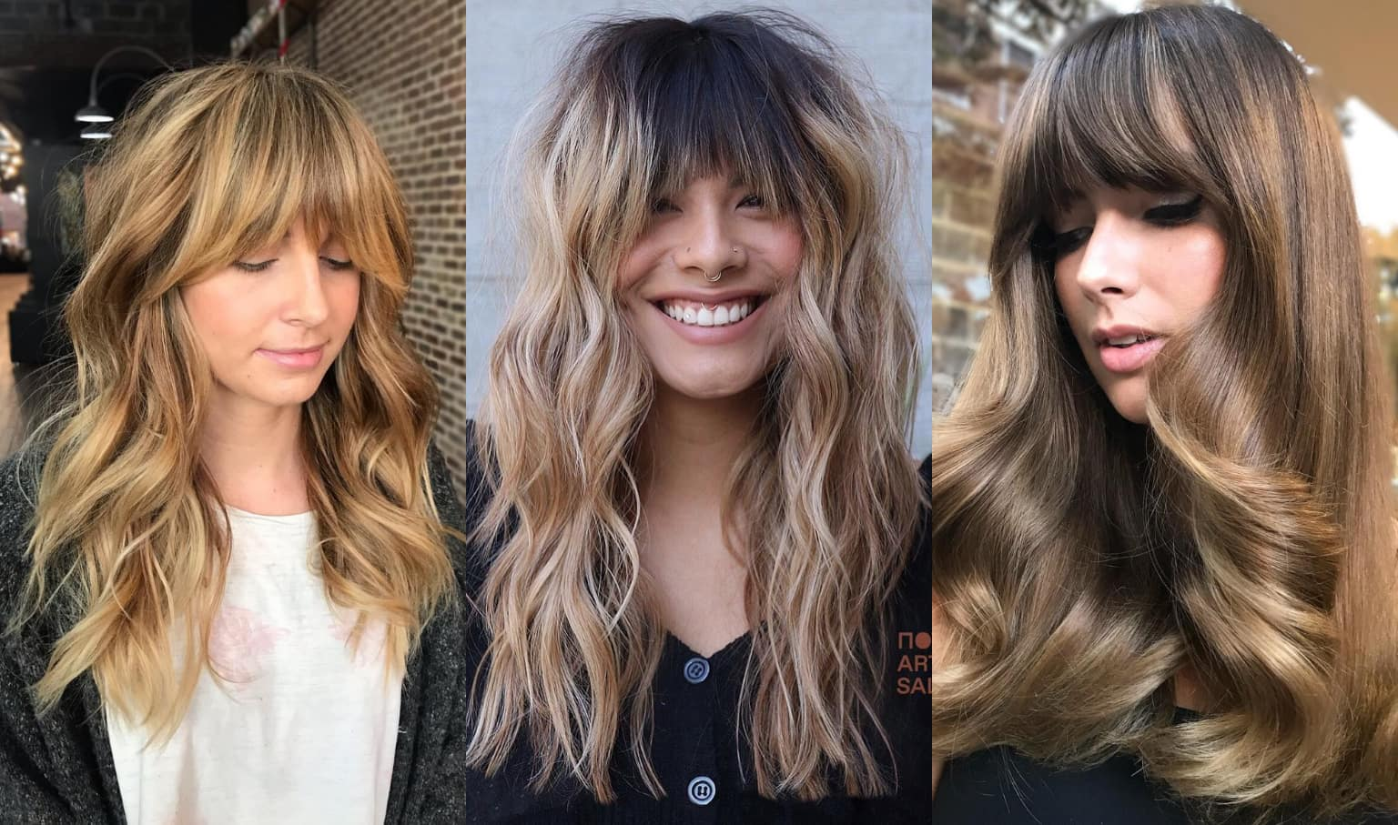 23 Perfectly Flattering Long Hairstyles With Bangs Stylesrant