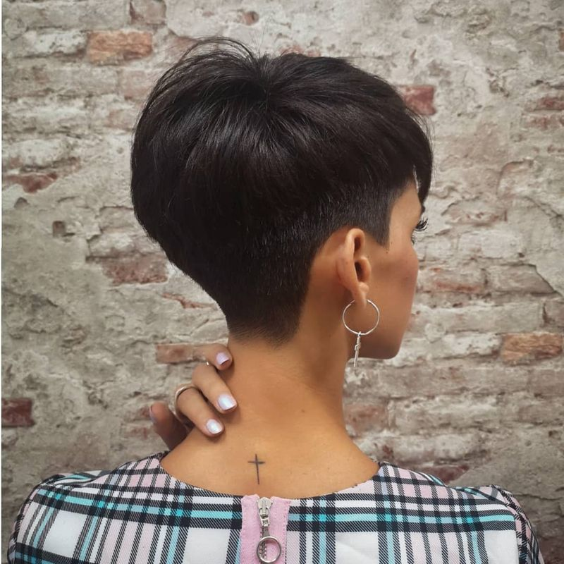 Long Pixie With Shaved Undercut