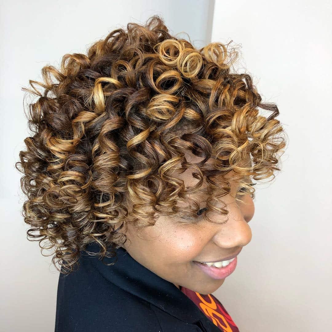 Luscious Curls With Bronde Balayage