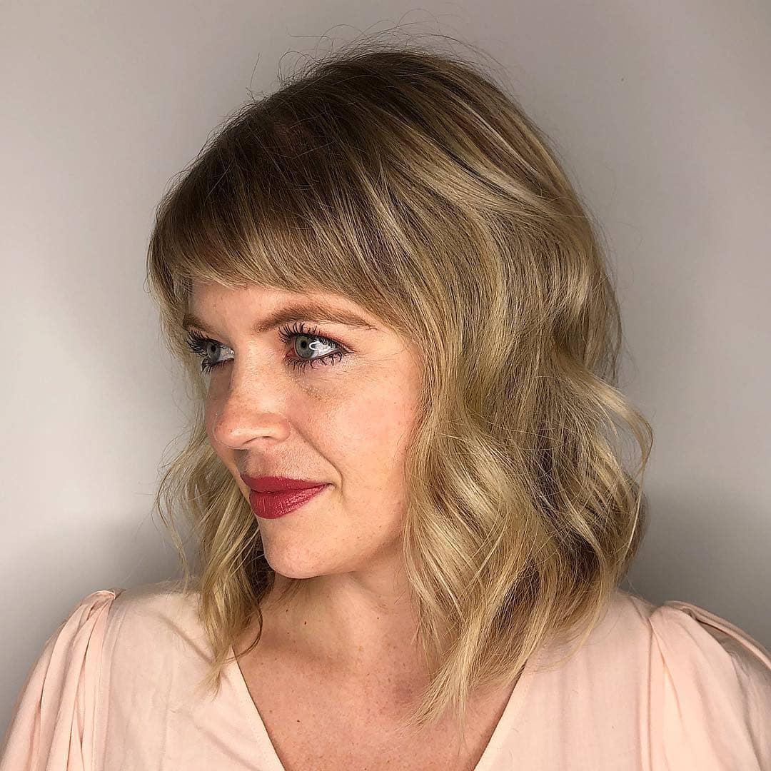 Medium Length With Side Swept Bangs