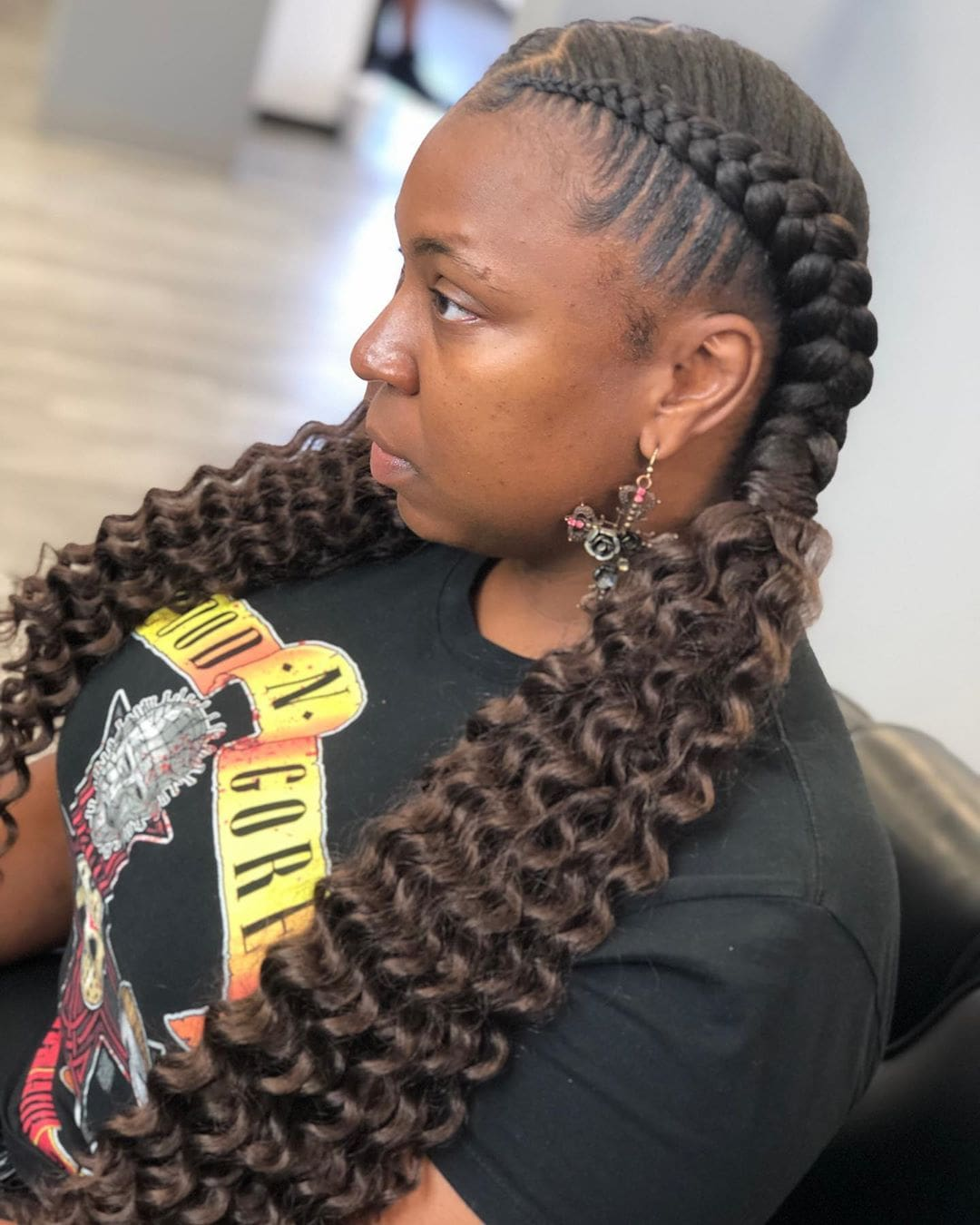 Pigtail Braids With Soft Waves