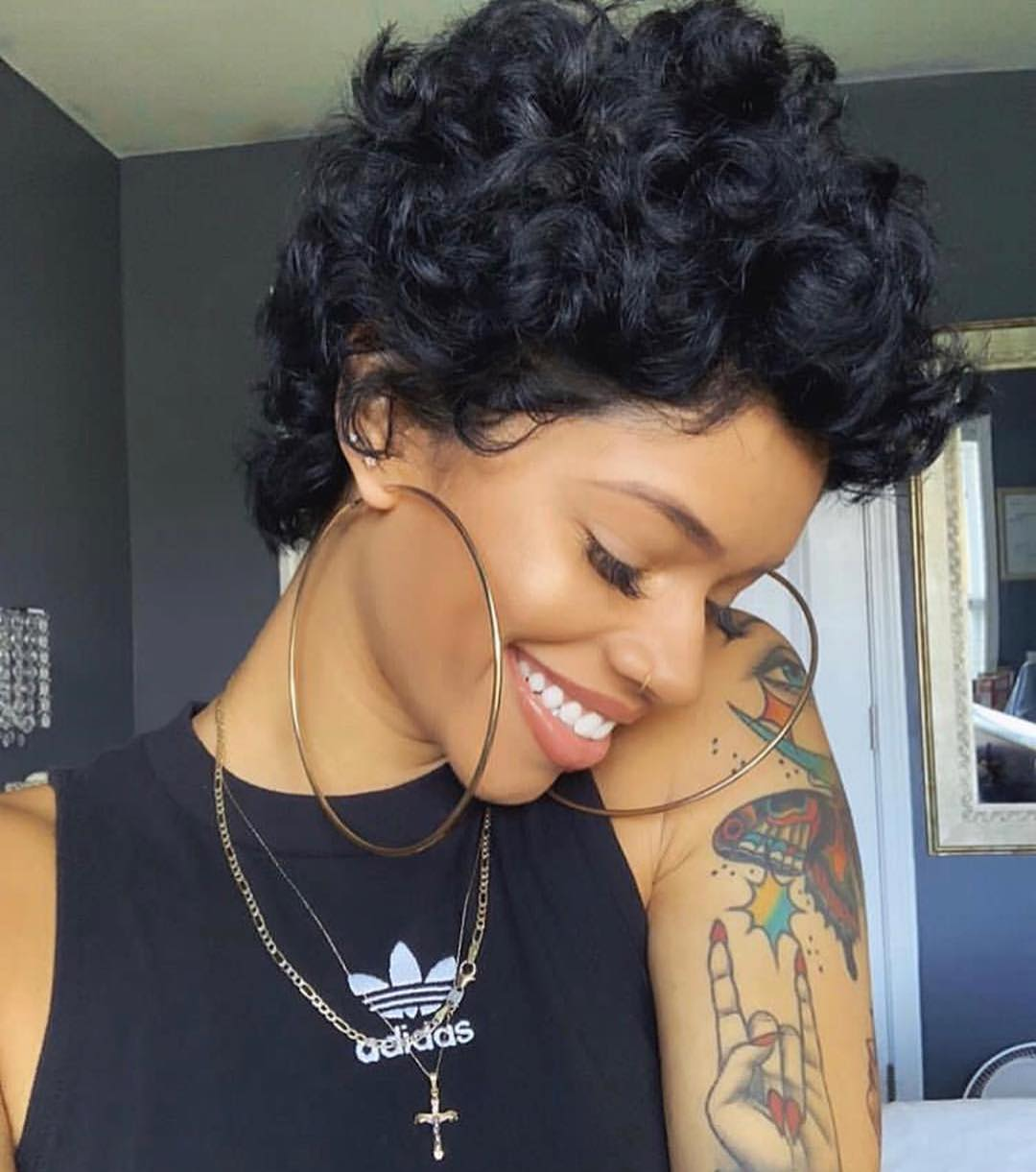 Pixie With Thick Curls