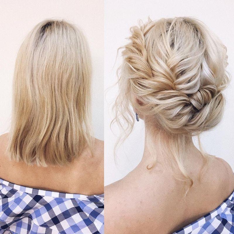 Romantic Up-do For Medium Hair
