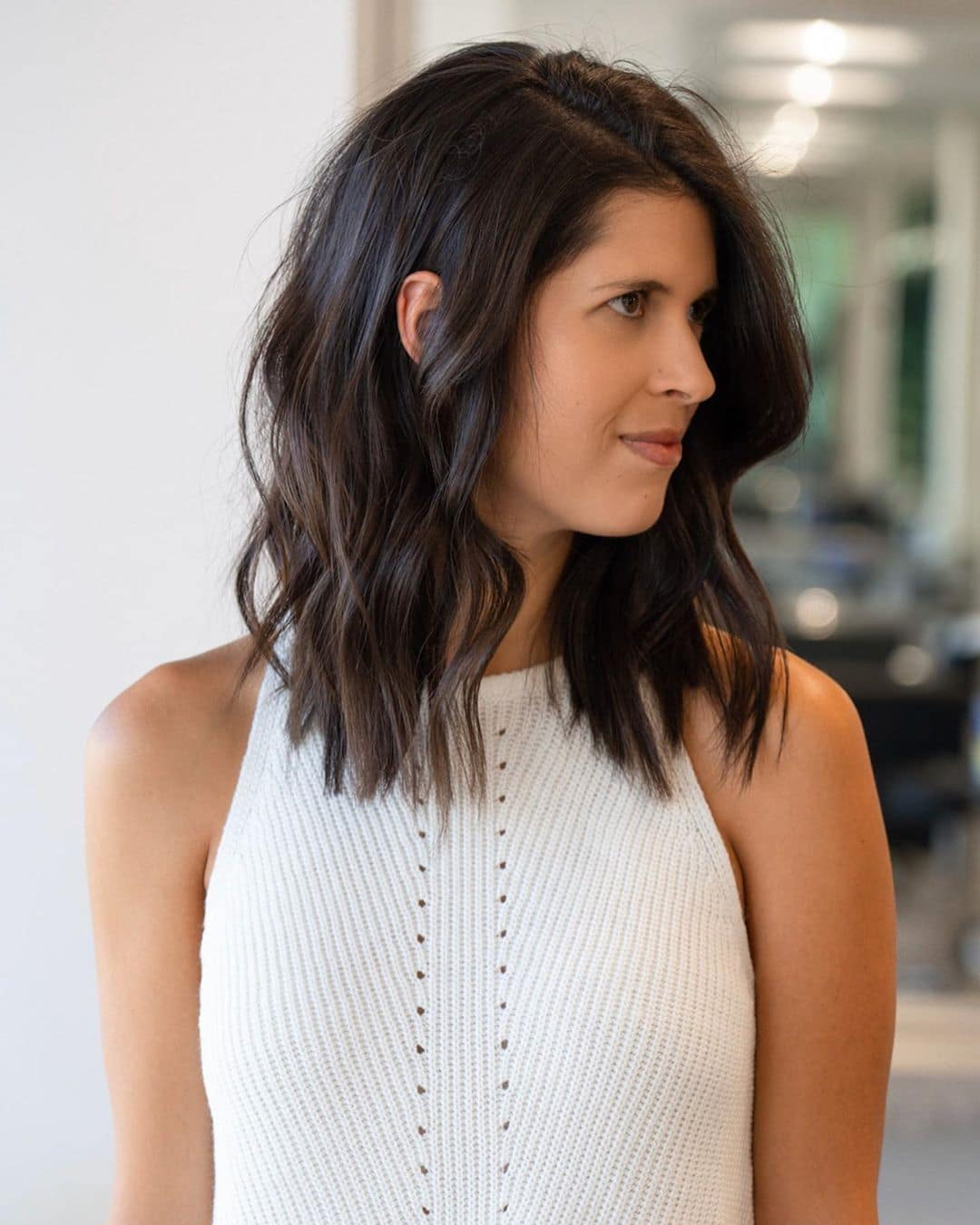 Shoulder Length With Side Part