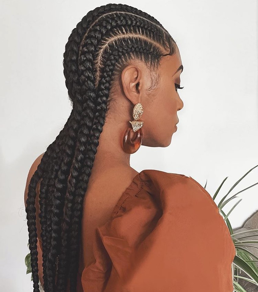Simple And Chic Goddess Braids
