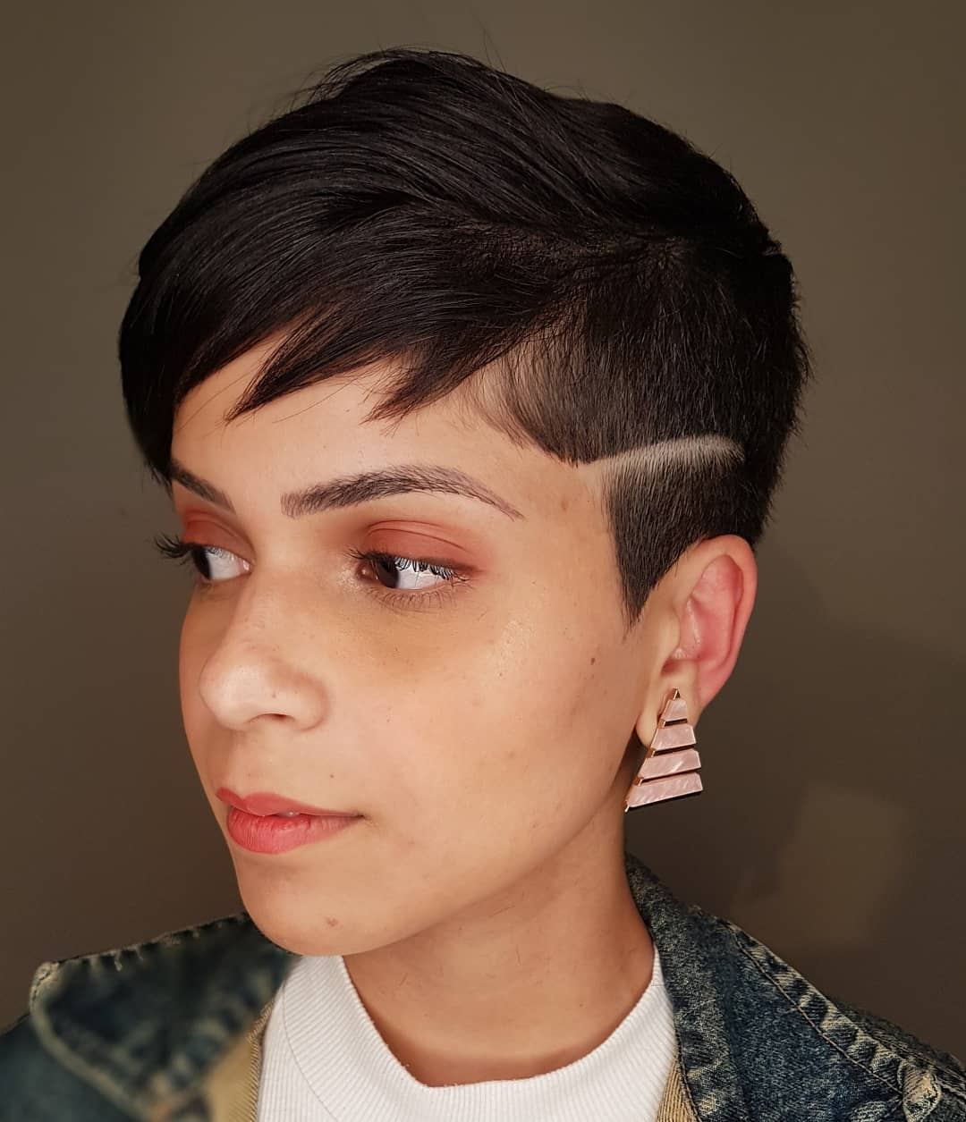 Spiky Bangs With Shaved Detail