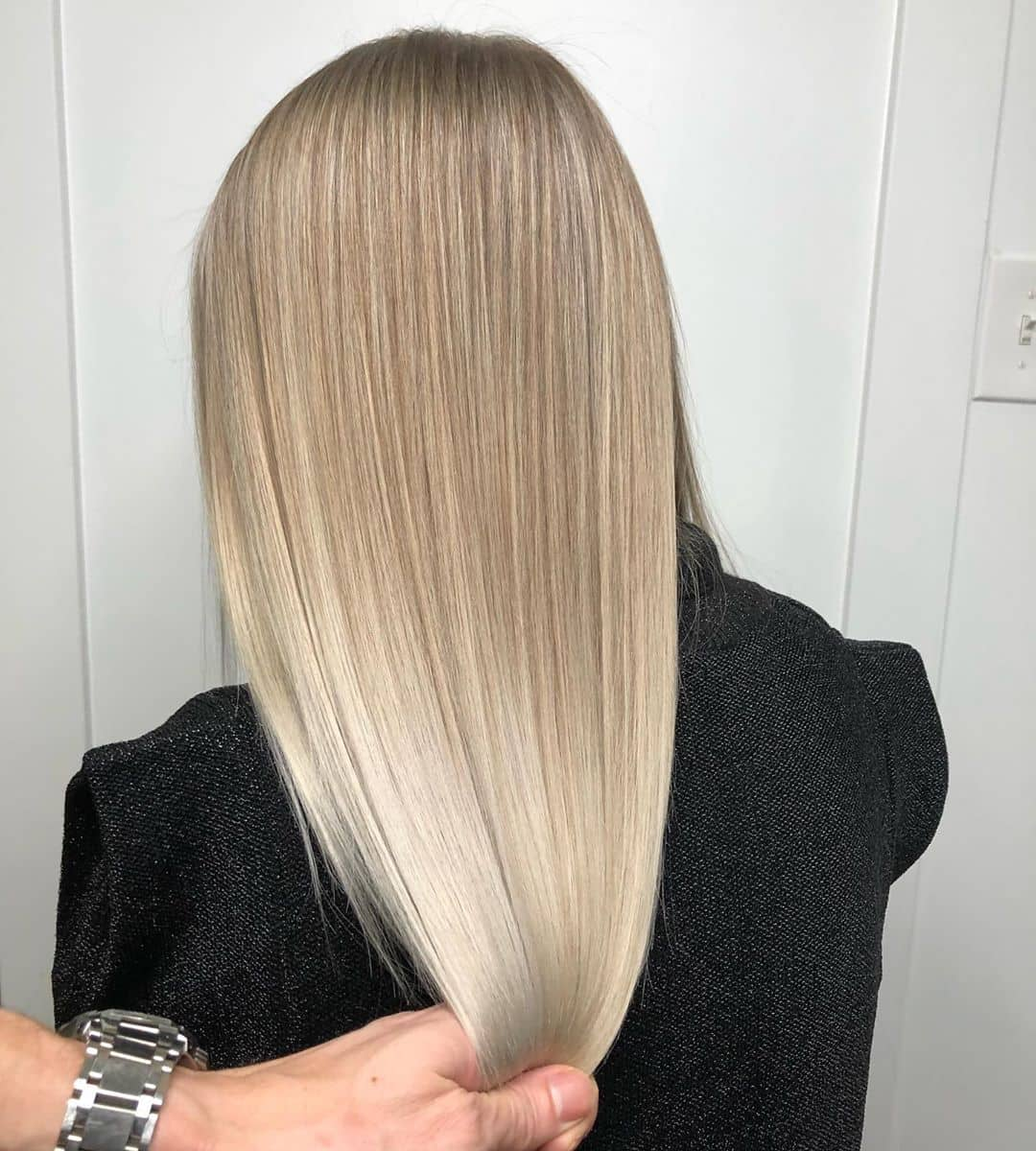 Straight And Blended Balayage