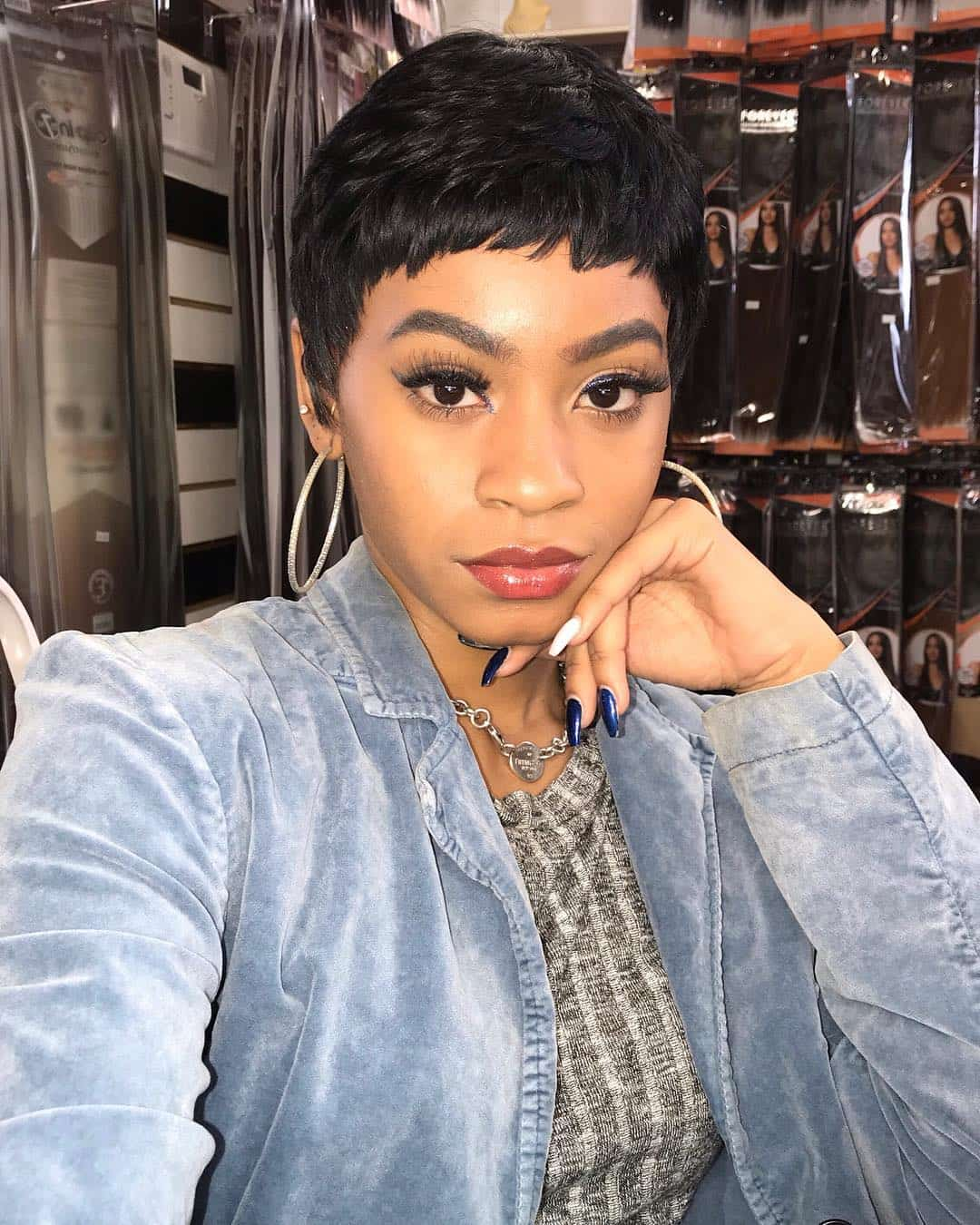 Straight Pixie With Super Short Fringe