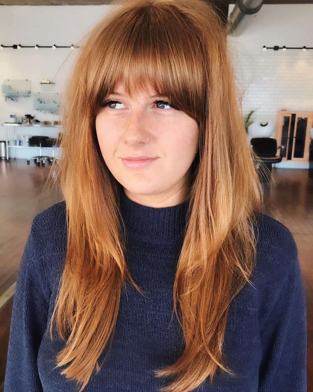 Strawberry Blond Bangs With Layers