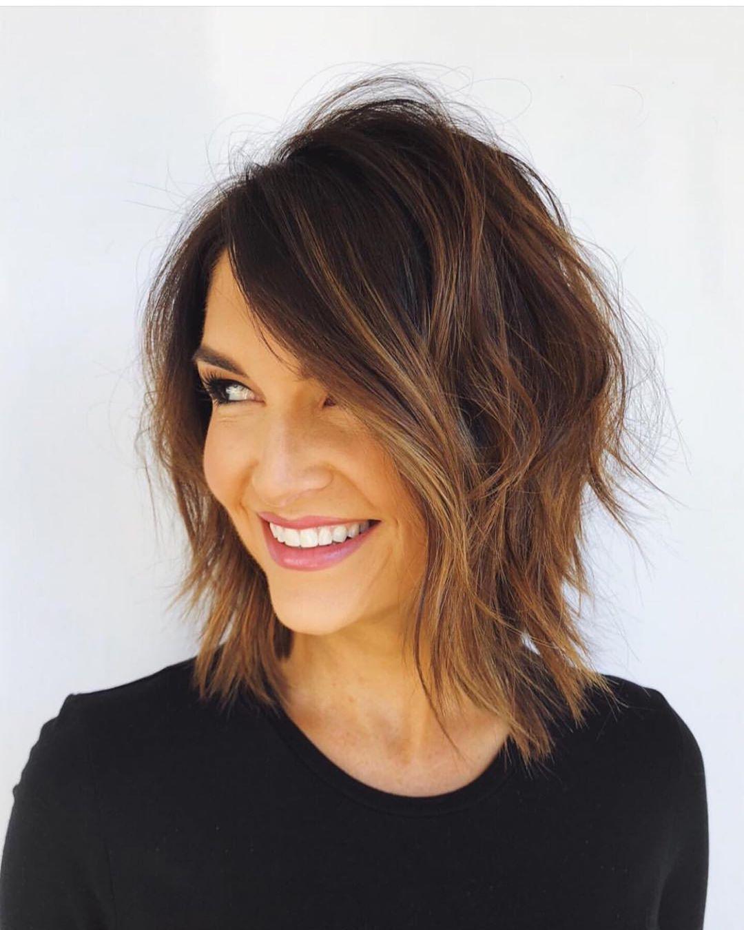 Textured Side Bangs For Fine Hair