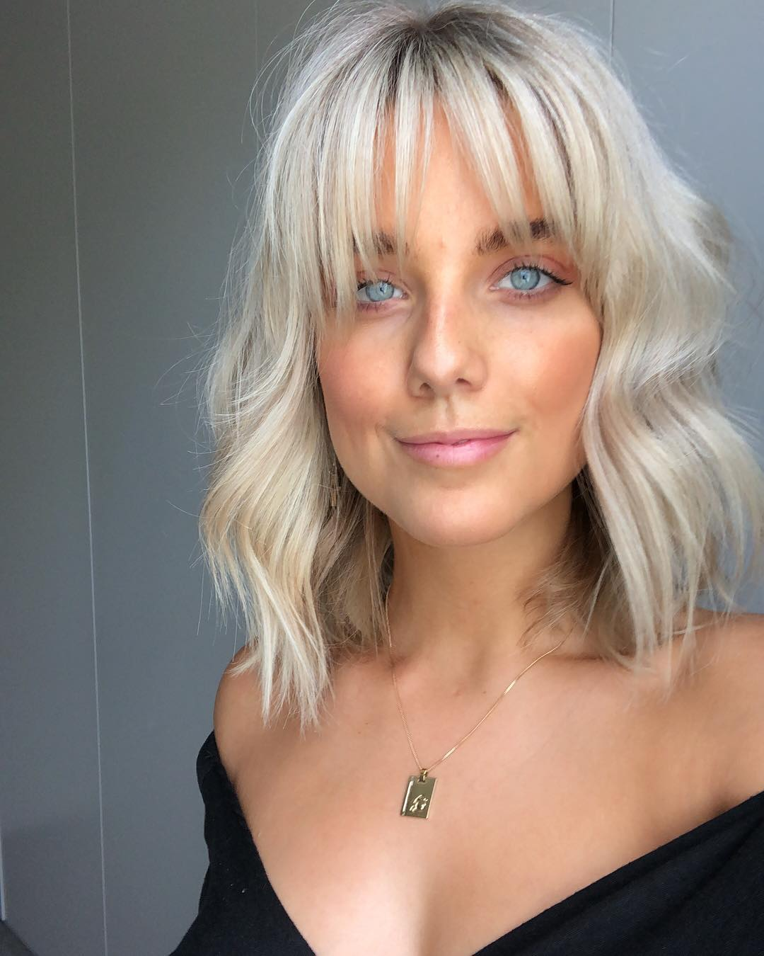 Wavy Bob With Wispy Bangs
