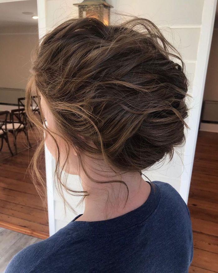 Wispy Up-do For Medium Hair