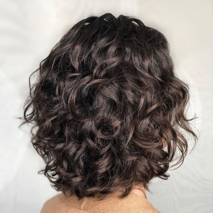Chocolate Bob For Fine Curly Hair