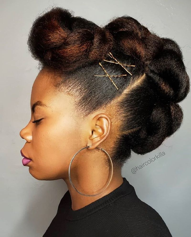 Large Buns Up-do