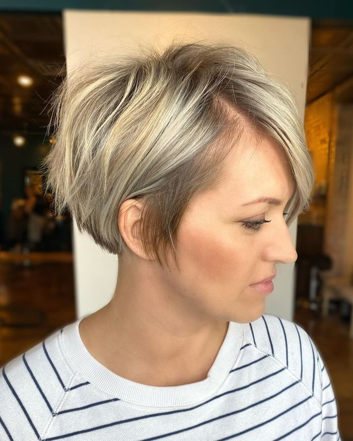 Long Blonde Pixie