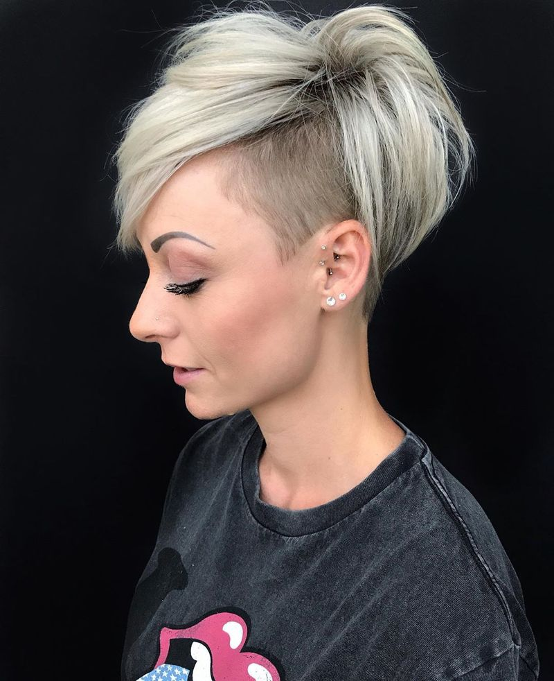 Pixie With Shaved Detail