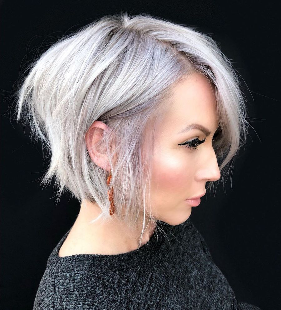 Platinum Bob With Layers