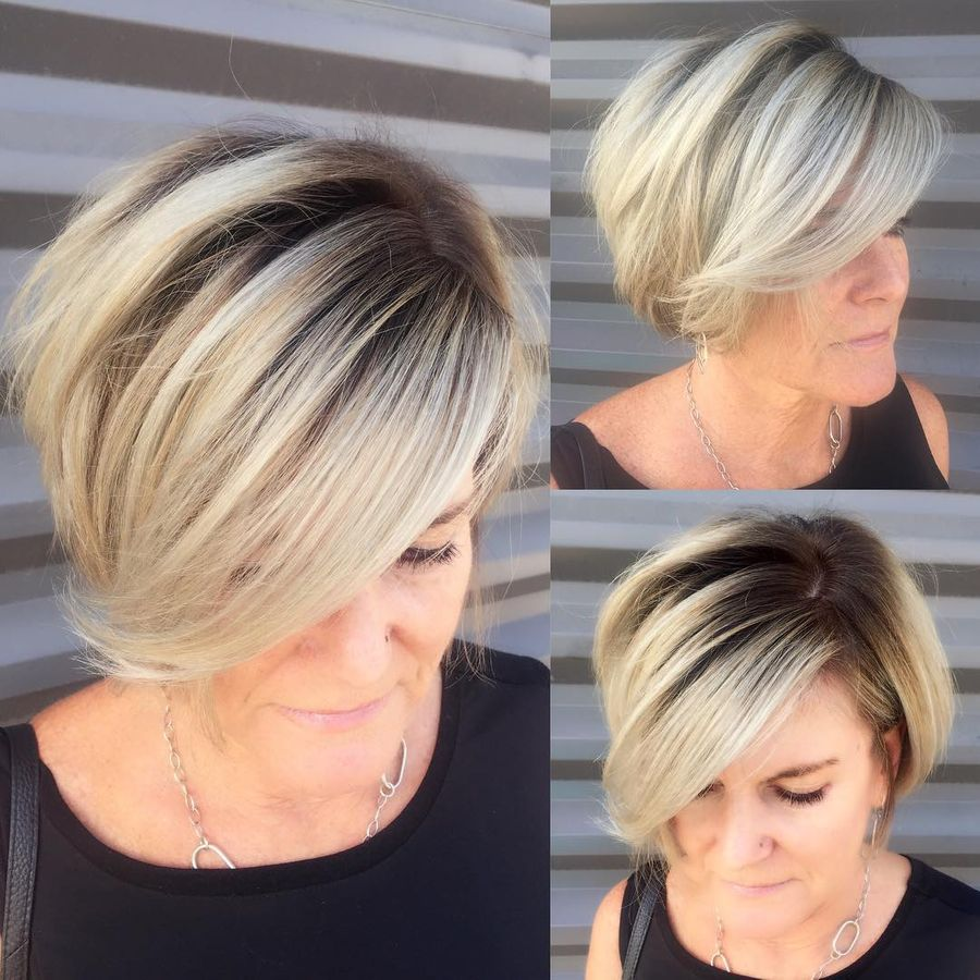 Short Bob With Rooted Balayage