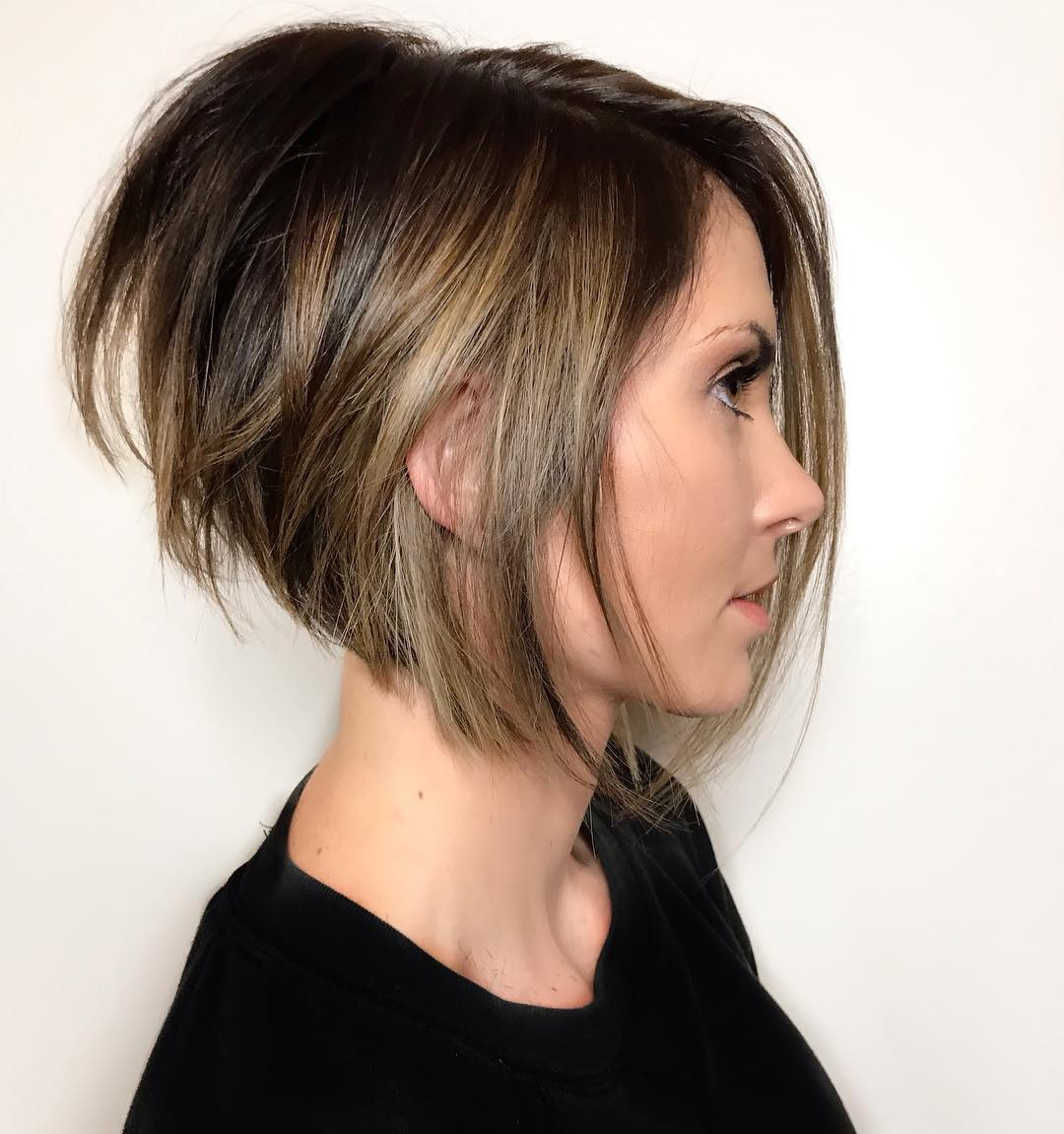 Stacked Balayage Bob