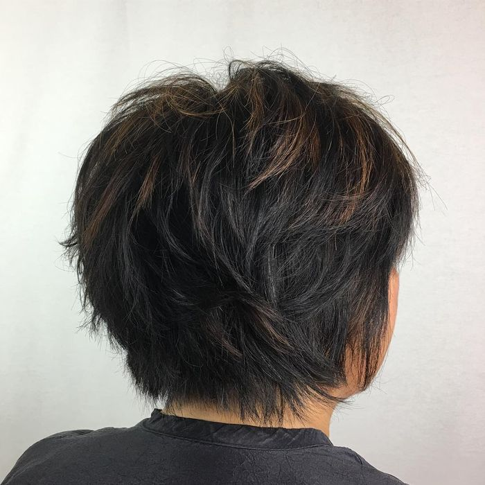 Textured Pixie For Coarse Hair