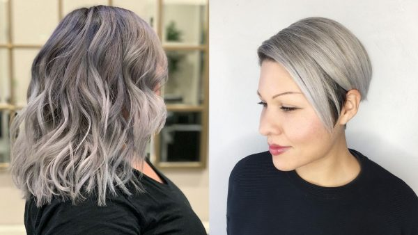 Silver Highlights Hairstyles