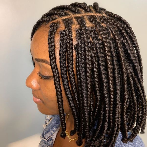 Brunette Box Braids