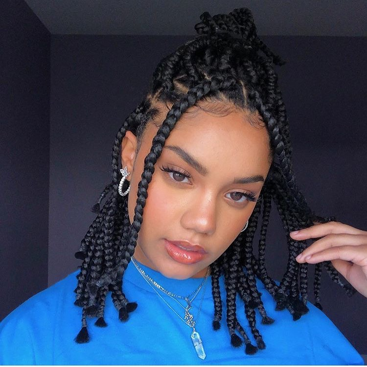 Half- Up Face-Framing Braids