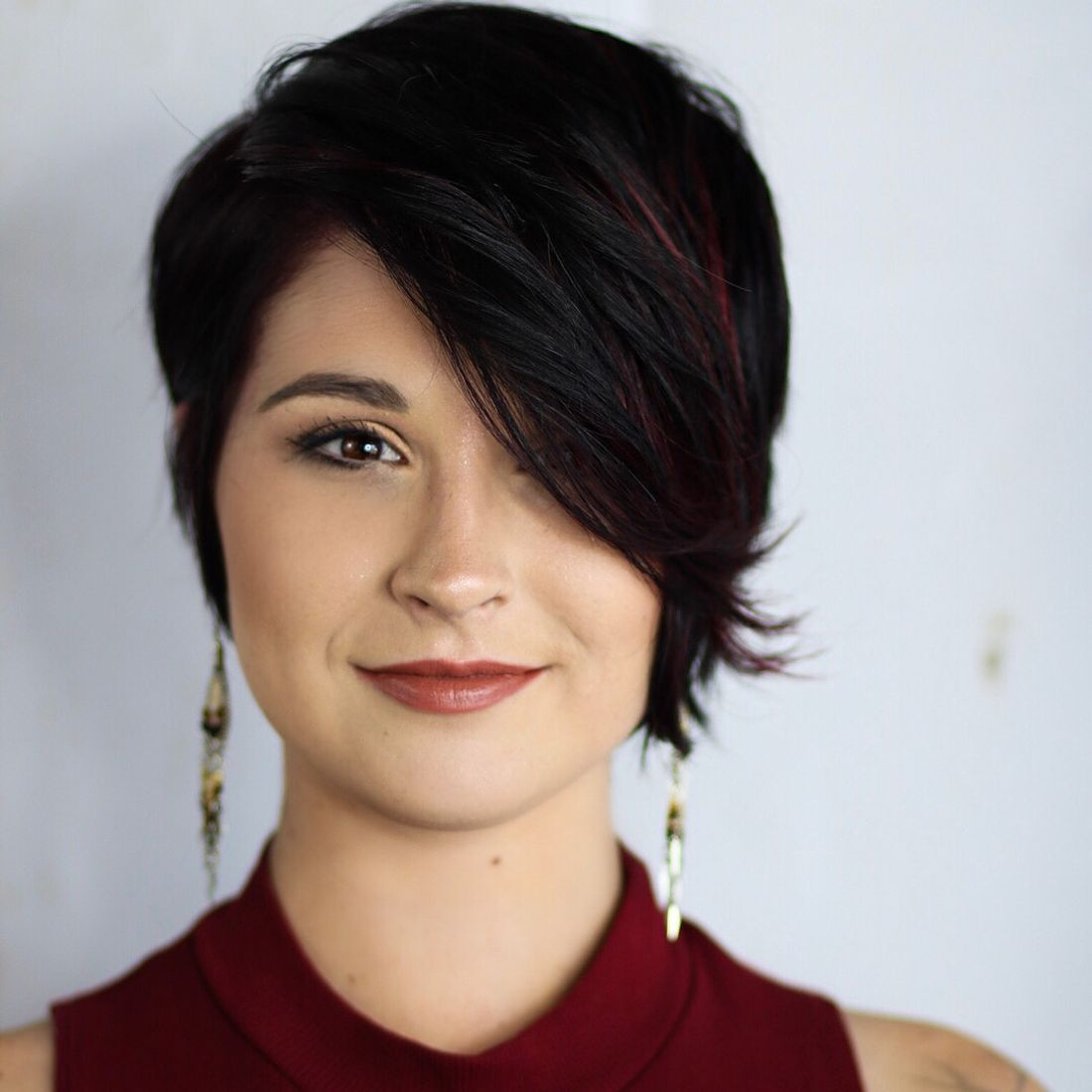 Pixie With Long Side Bangs