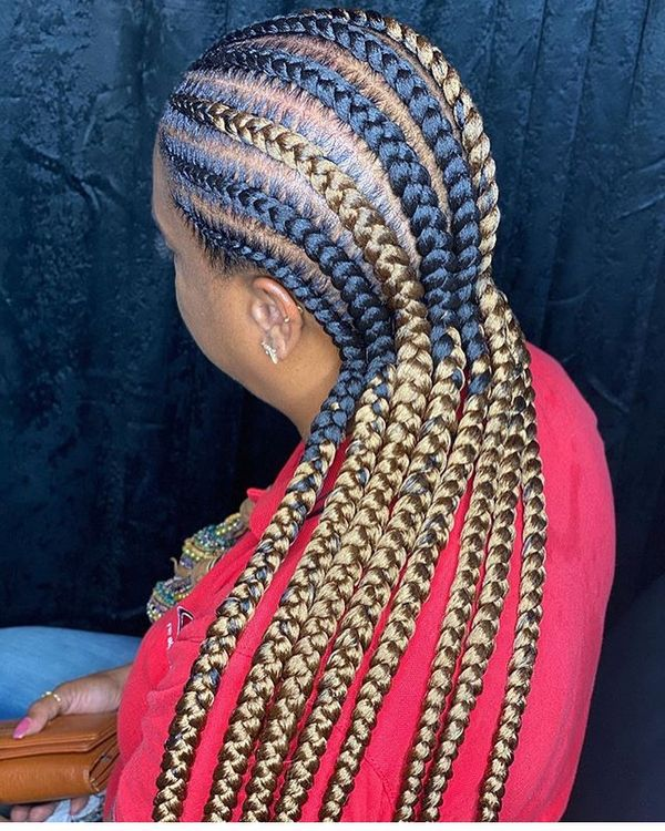 Black and Gold Braids