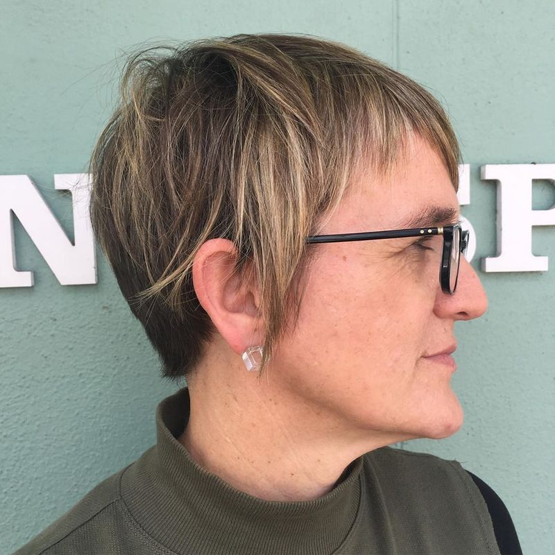 Choppy Pixie With Razor Cut Layers