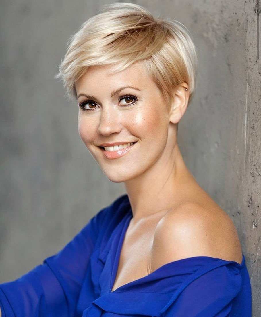 Layered Blonde Pixie