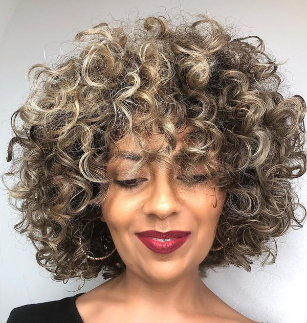 Rounded Curly Bob