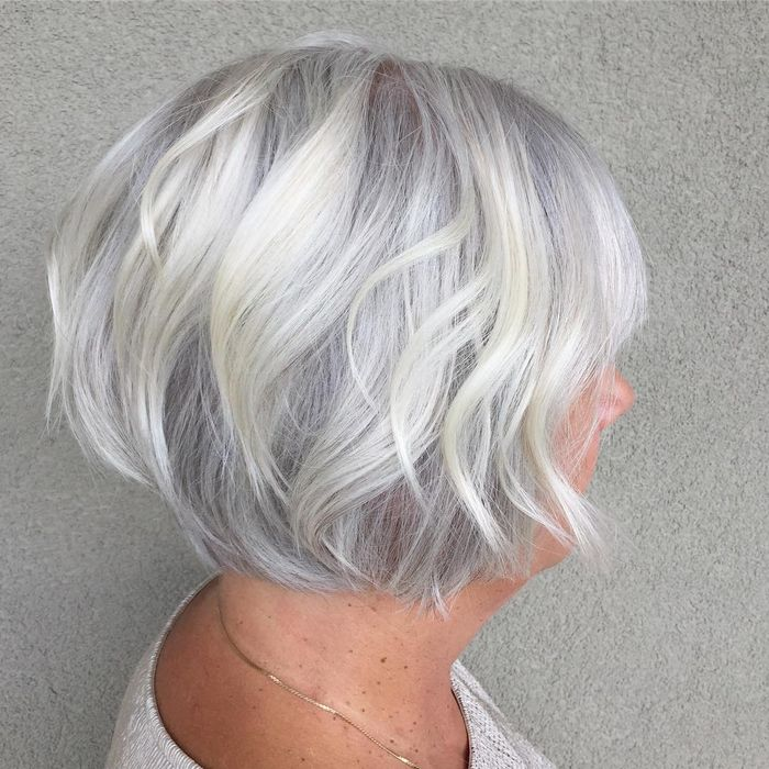 Silver Bob + Soft Layers
